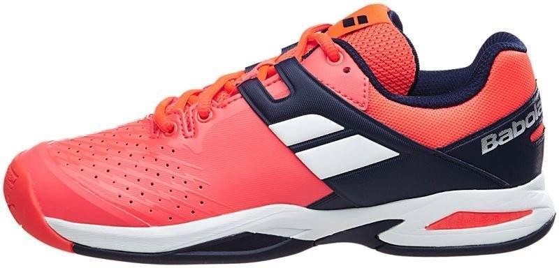 Детские теннисные кроссовки Babolat Propulse All Court Junior fluo red