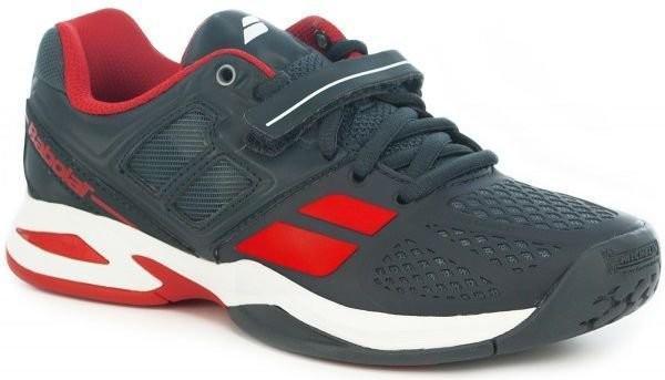 Детские теннисные кроссовки Babolat Propulse All Court Junior grey/red