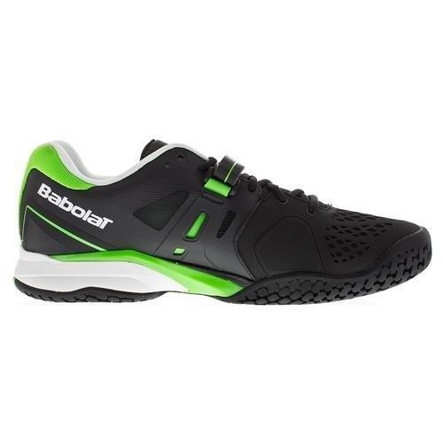Детские теннисные кроссовки Babolat Propulse BPM Wimbledon Black/Green