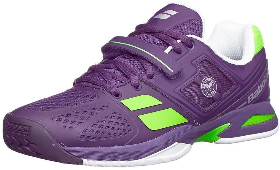 Детские теннисные кроссовки Babolat Propulse Wimbledon Junior purple