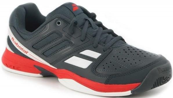 Детские теннисные кроссовки Babolat Pulsion All Court Junior grey/red