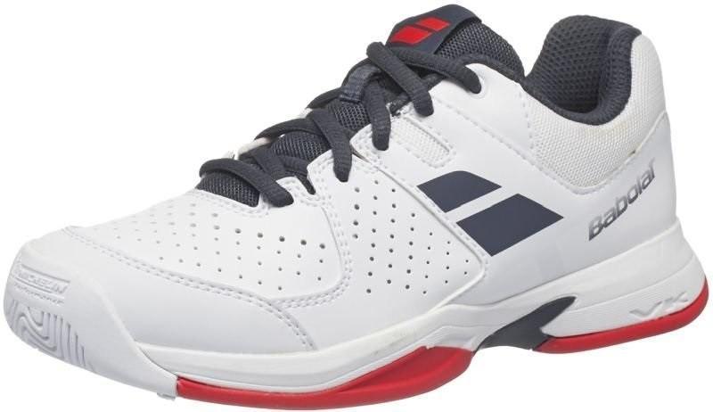 Детские теннисные кроссовки Babolat Pulsion All Court Junior white/grey/red