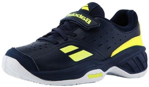 Детские теннисные кроссовки Babolat Pulsion All Court Kid blue/yellow