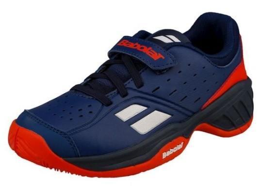 Детские теннисные кроссовки Babolat Pulsion All Court Kid estate blue/orange