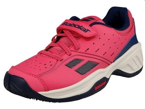 Детские теннисные кроссовки Babolat Pulsion All Court Kid fandango pink/estate blue