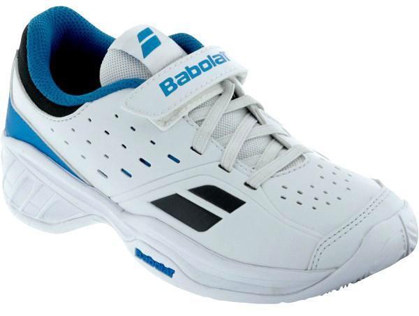 Детские теннисные кроссовки Babolat Pulsion BPM Kid white/blue