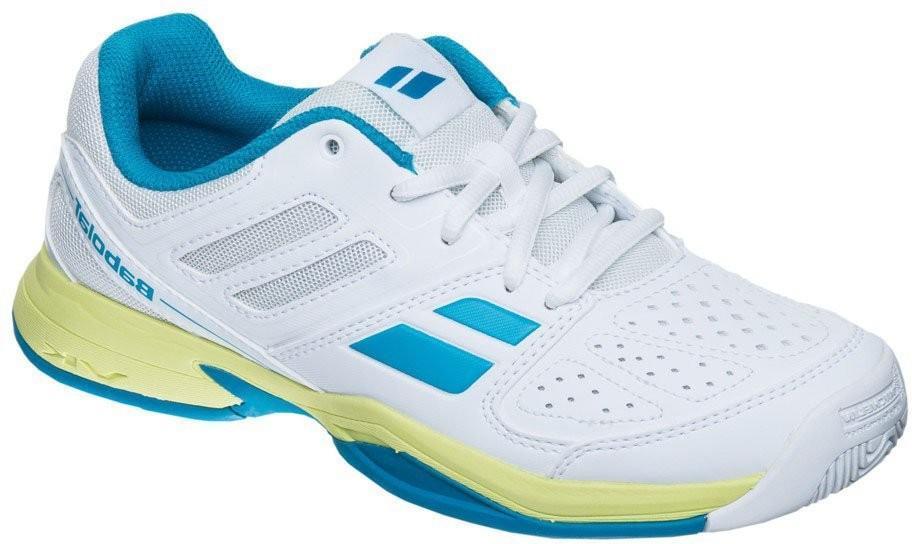 Детские теннисные кроссовки Babolat Pulsion Junior white/blue