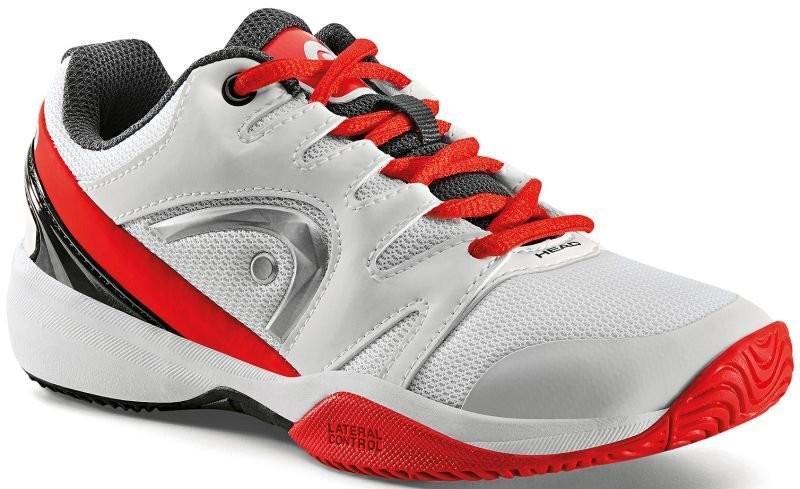 Детские теннисные кроссовки Head Nzzzo Junior white/red