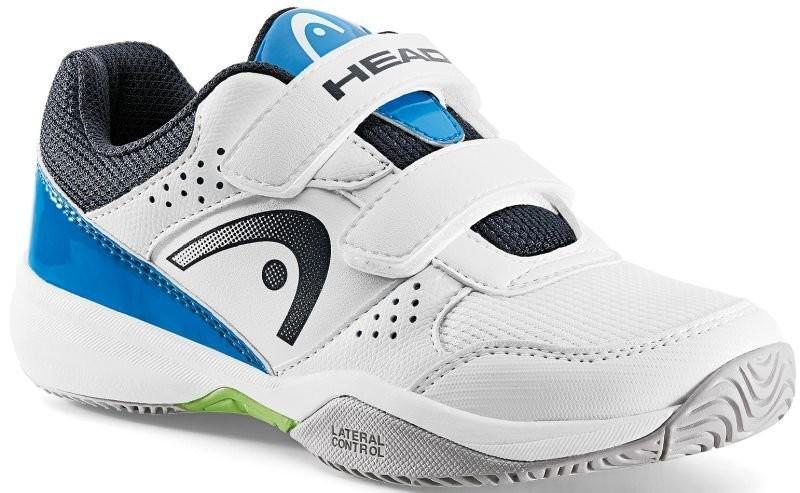 Детские теннисные кроссовки Head Nzzzo Velcro Kids white/blue
