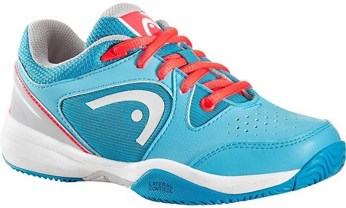 Детские теннисные кроссовки Head Revolt Junior blue/neon coral