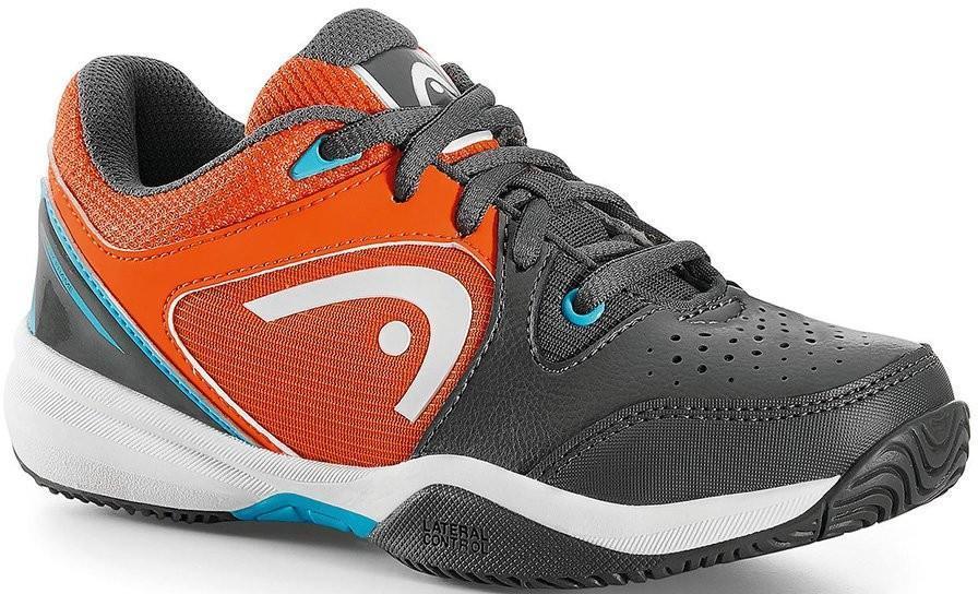 Детские теннисные кроссовки Head Revolt Junior grey/orange