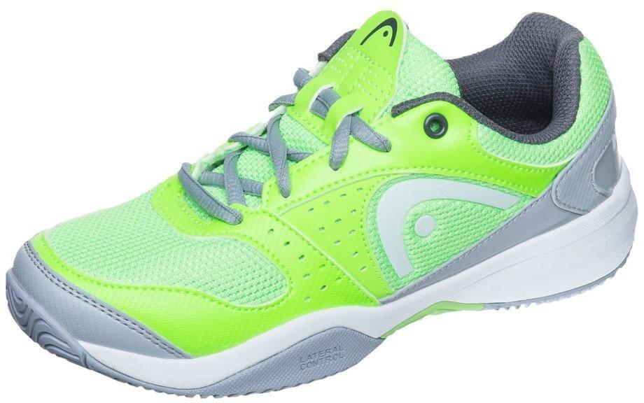 Детские теннисные кроссовки Head Sprint Evo Junior neon green/grey