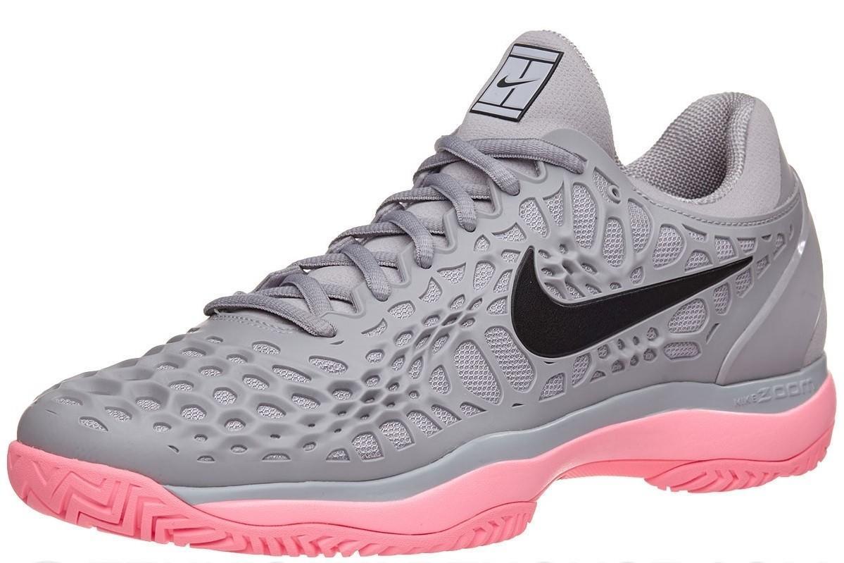 Детские теннисные кроссовки Nike Air Zoom Cage 3 HC Jr atmosphere grey/black