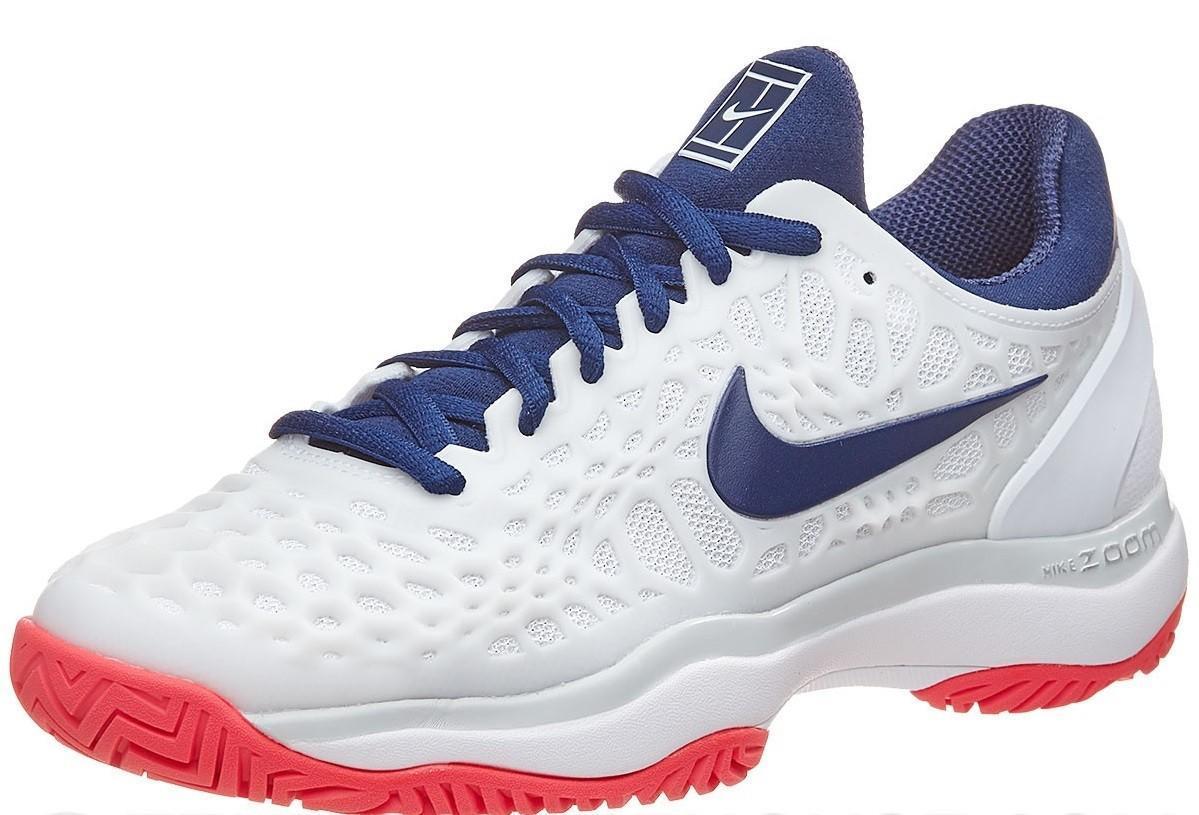 Детские теннисные кроссовки Nike Air Zoom Cage 3 HC White/Red/Blue