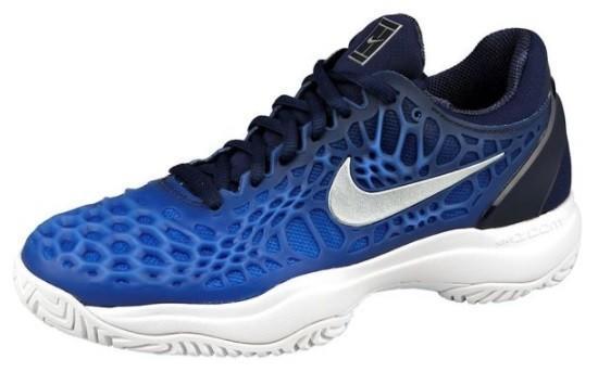 Детские теннисные кроссовки Nike Air Zoom Cage 3 midnight navy/metallic silver