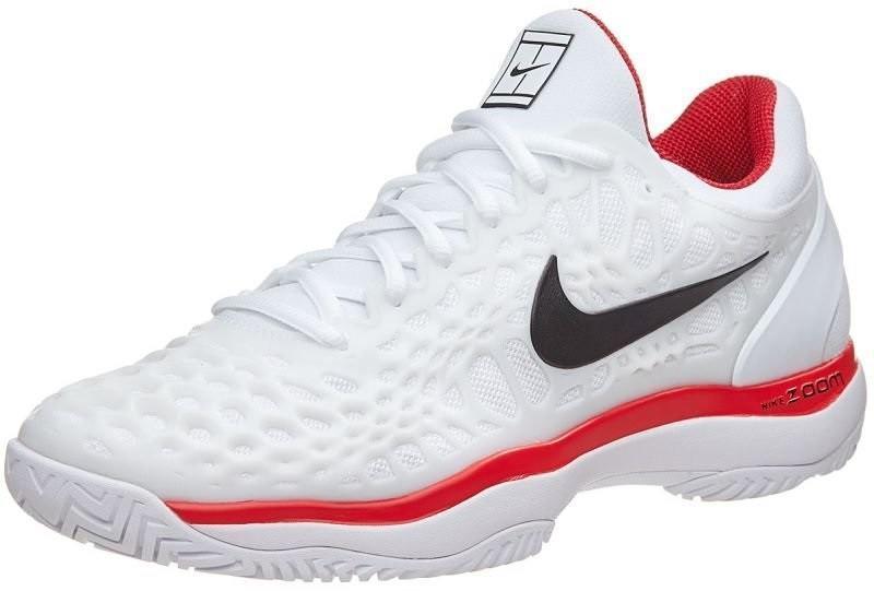 Детские теннисные кроссовки Nike Air Zoom Cage 3 white/black/university red