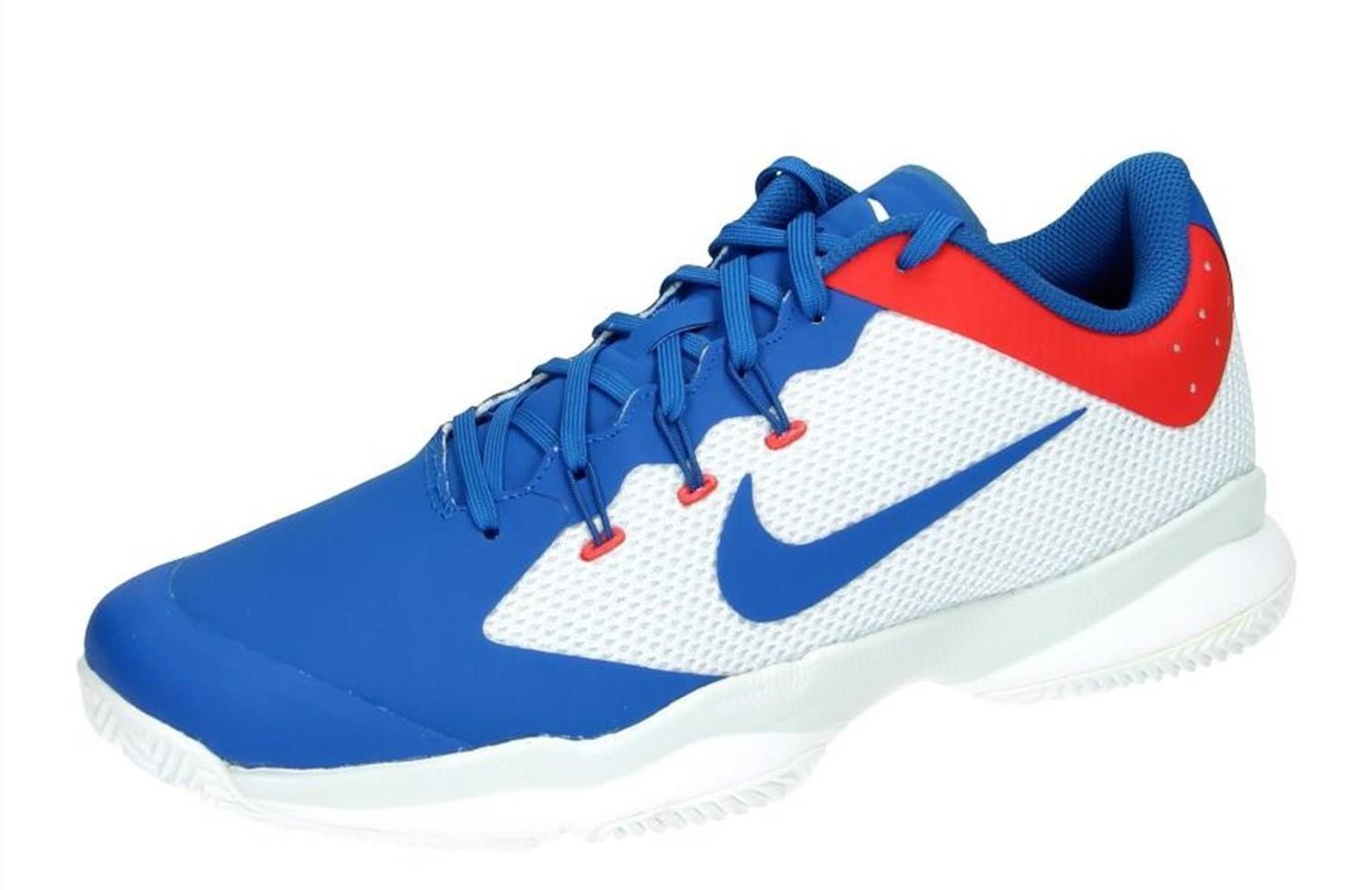 Детские теннисные кроссовки Nike Air Zoom Ultra ГРУНТ blue/white