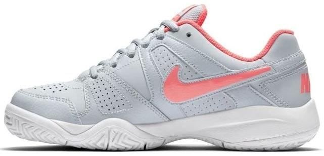 Детские теннисные кроссовки Nike City Court 7 (GS) pure platinum/hot punch/white
