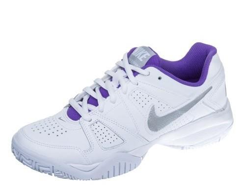 Детские теннисные кроссовки Nike City Court 7 (GS) white metallic silver