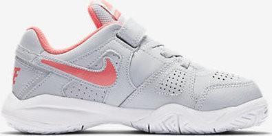Детские теннисные кроссовки Nike City Court 7 (PSV) pure platinum/hot punch