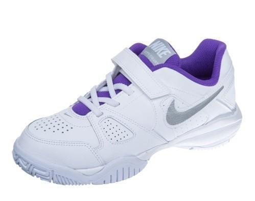 Детские теннисные кроссовки Nike City Court 7 (PSV) white metallic silver