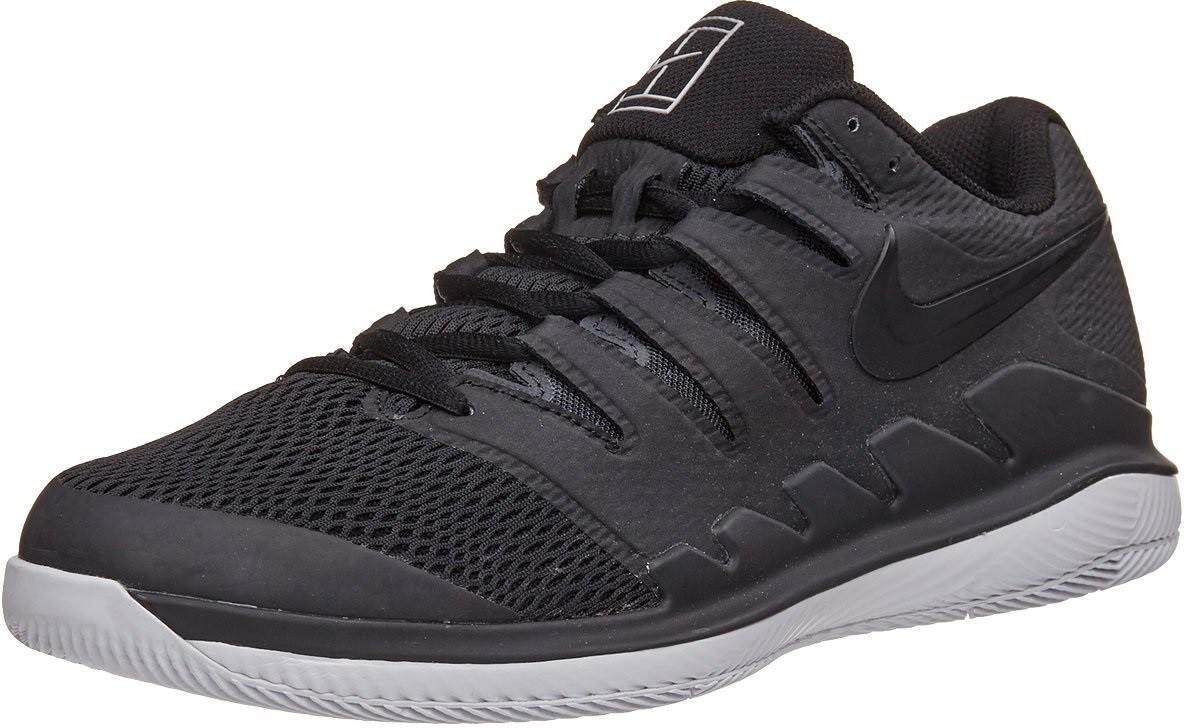 Детские теннисные кроссовки Nike Zoom Vapor 10 HC Jr black/vast grey