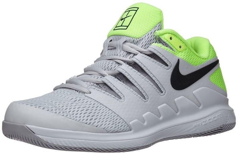 Детские теннисные кроссовки Nike Zoom Vapor 10 HC Jr vast grey/black