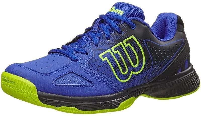 Детские теннисные кроссовки Wilson Kaos Comp JR blue iris/black/granny green