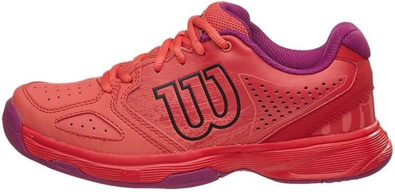 Детские теннисные кроссовки Wilson Kaos Comp JR radiant red/coral punch/azalee pink