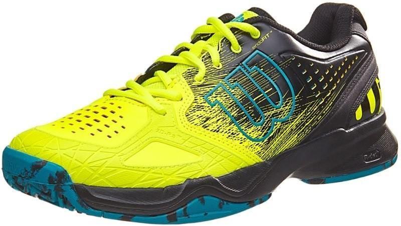 Детские теннисные кроссовки Wilson Kaos Comp JR safey yellow/black/enemal blue