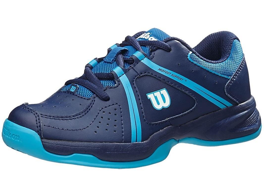 Детские теннисные кроссовки Wilson Nvision Envy deep water/navy/scuba blue