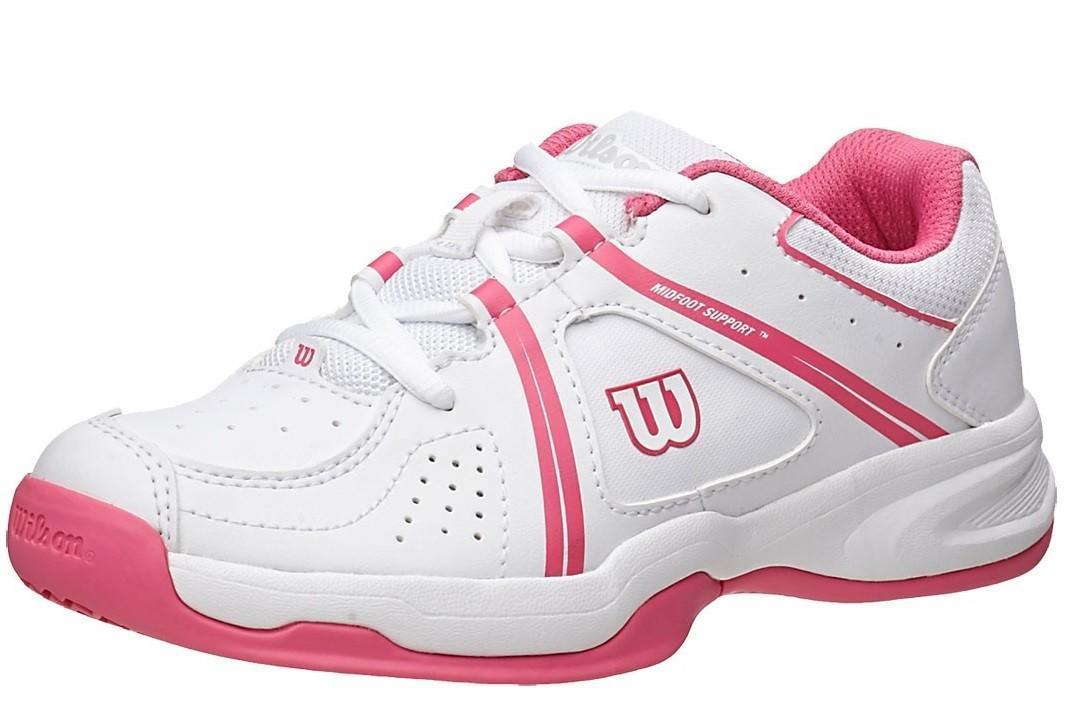 Детские теннисные кроссовки Wilson Nvision Envy white/fandango pink