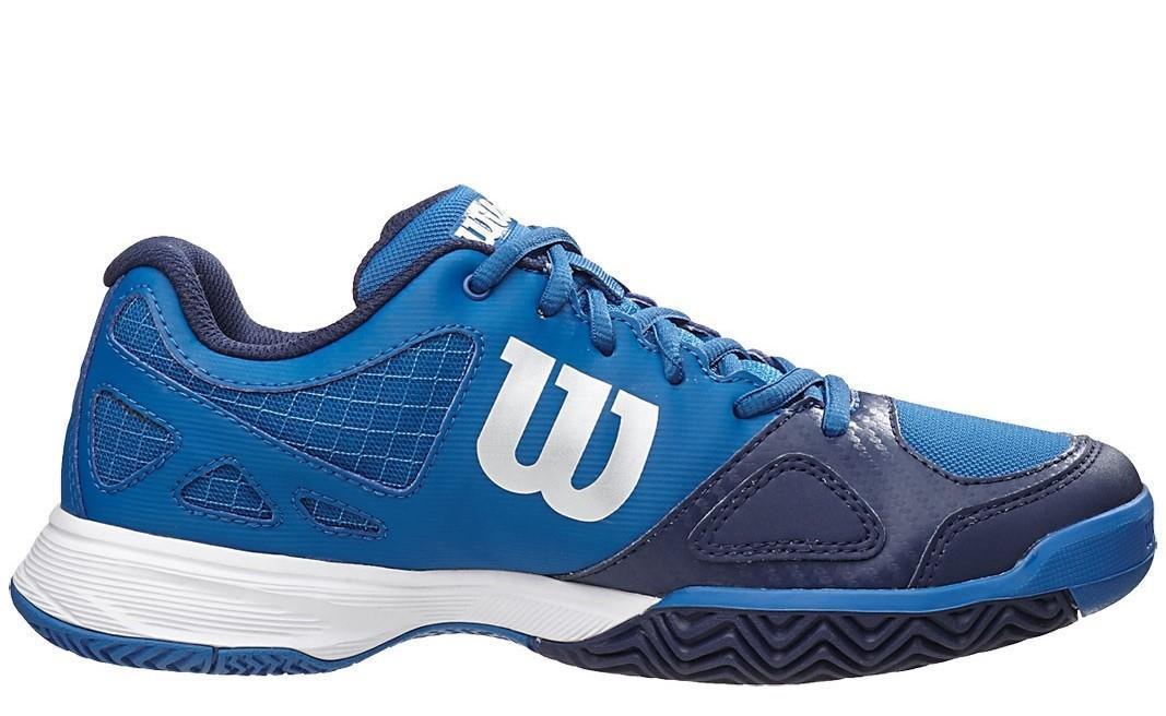 Детские теннисные кроссовки Wilson Rush Pro Junior deep water/navy/scuba blue