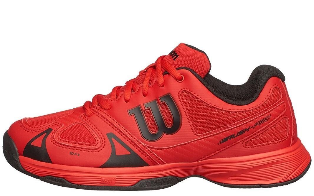 ccdd104b ... Детские теннисные кроссовки Wilson Rush Pro Junior wilson red/black ...