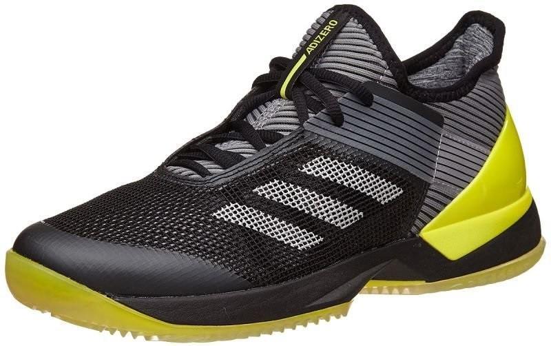 Теннисные кроссовки женские Adidas Adizero Ubersonic 3 W ГРУНТ core black/night metallic/bright ye