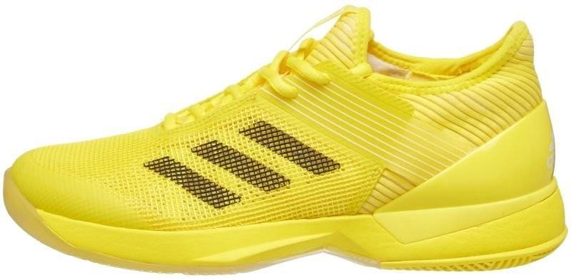 Теннисные кроссовки женские Adidas Adizero Ubersonic 3 W bright yellow/core black/ftwr white