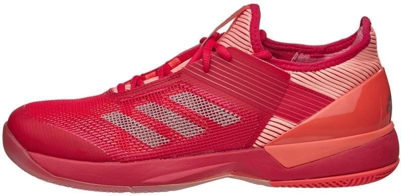 Теннисные кроссовки женские Adidas Adizero Ubersonic 3 W energy pink/vapour grey metalic/easy coral