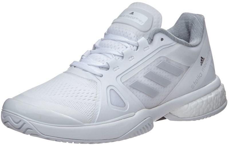 Теннисные кроссовки женские Adidas Stella McCartney Barricade Boost 2017 white/light solid grey/nigh