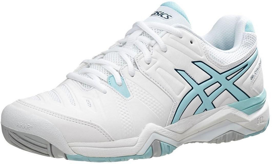 Теннисные кроссовки женские Asics Gel-Challenger 10 white/crystal blue/blue steel