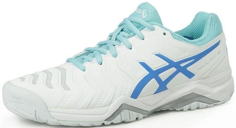 Теннисные кроссовки женские Asics Gel-Challenger 11 white/diva blue/aqua splash