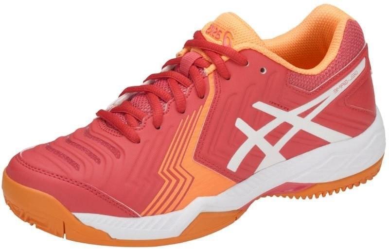 Теннисные кроссовки женские Asics Gel-Game 6 ГРУНТ coralicious/white/orange pop