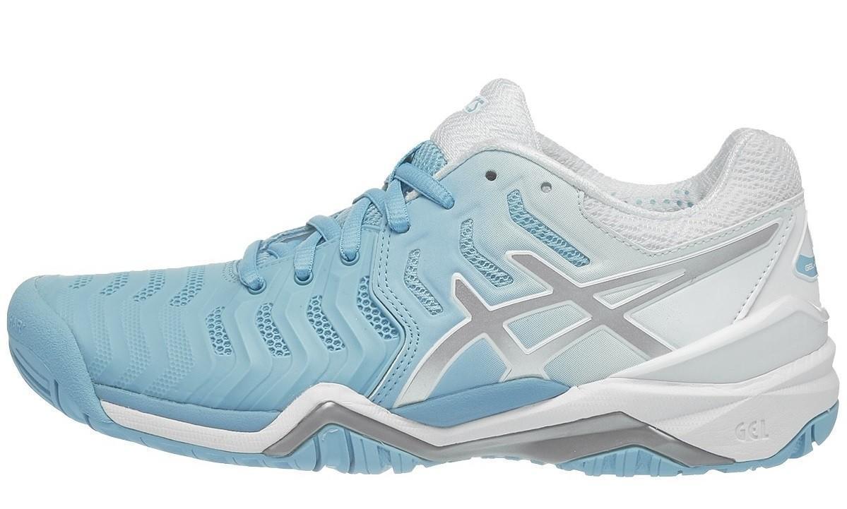 Теннисные кроссовки женские Asics Gel-Resolution 7 Blue/Silver/White
