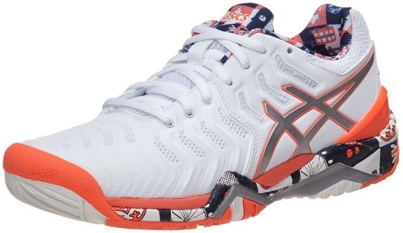 Теннисные кроссовки женские Asics Gel-Resolution 7 L.E. London white/silver/flash coral