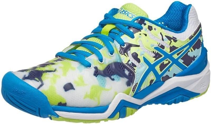 Теннисные кроссовки женские Asics Gel-Resolution 7 L.E. Melbourne white/diva blue/pistachio
