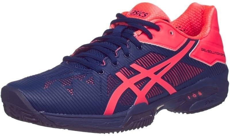 Теннисные кроссовки женские Asics Gel-Solution Speed 3 ГРУНТ indigo blue/diva pink
