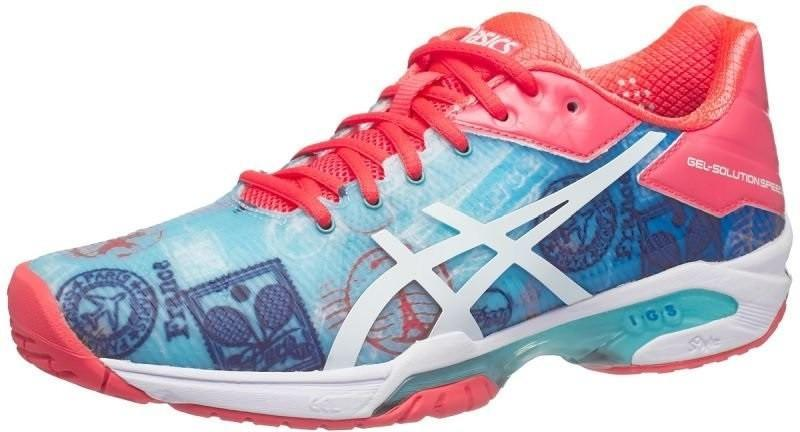 Теннисные кроссовки женские Asics Gel-Solution Speed 3 L.E. Paris diva blue/white/dive pink