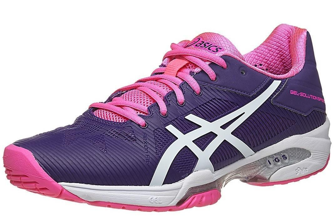 Теннисные кроссовки женские Asics Gel-Solution Speed 3 parachute purple/white/hot pink