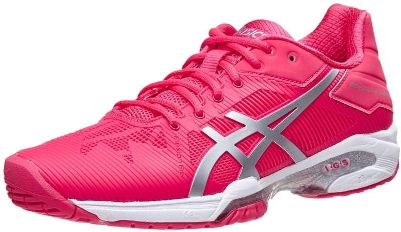 Теннисные кроссовки женские Asics Gel-Solution Speed 3 rogue red/silver/white