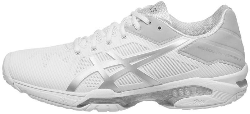 Теннисные кроссовки женские Asics Gel-Solution Speed 3 white/silver