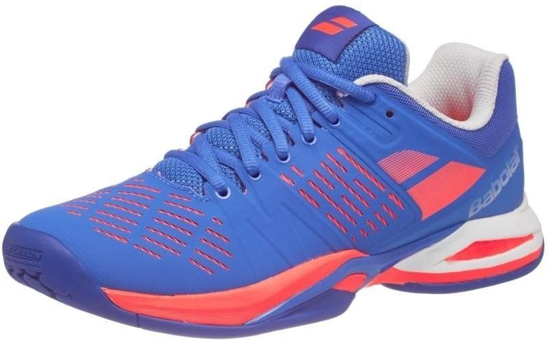 Теннисные кроссовки женские Babolat Propulse Team All Court Woman blue/fluo pink